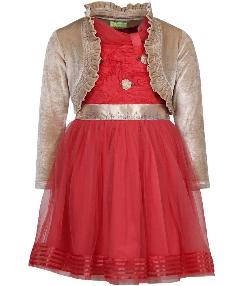 4e474300da1 Cutecumber Orange Party Wear Girls Dress - Buy Cutecumber Orange Party Wear Girls  Dress Online at Low Price - Snapdeal