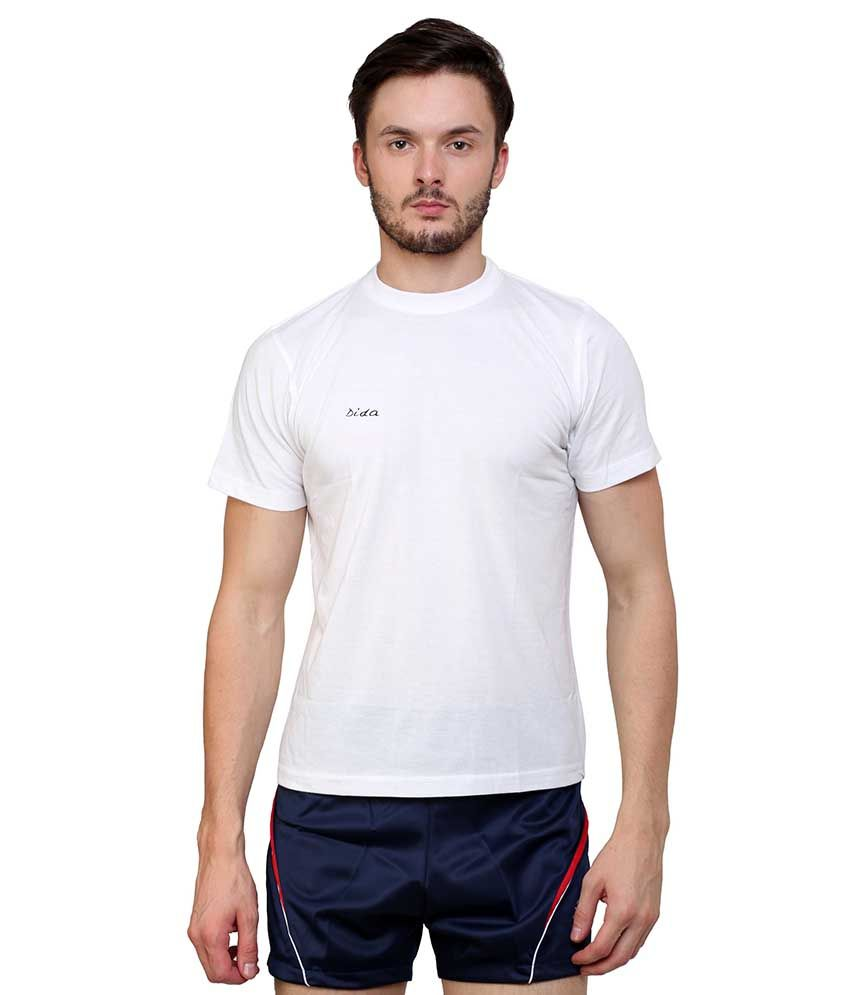 Dida  White Cotton T-shirt