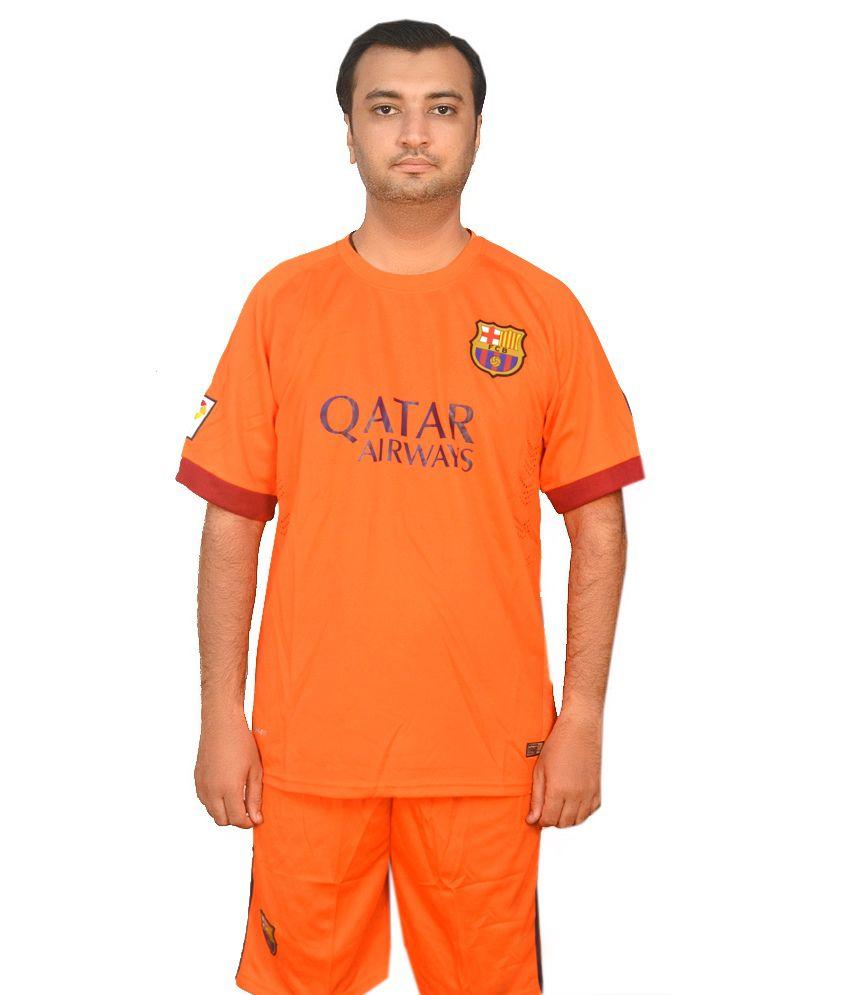 M/S Merchant Eshop Orange Polyester Barcelona Away Jersey