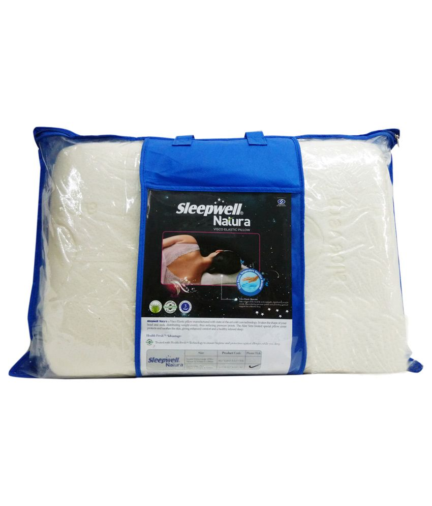 sleepwell white memory foam single pillow 19x27x5 buy sleepwell white memory foam single. Black Bedroom Furniture Sets. Home Design Ideas