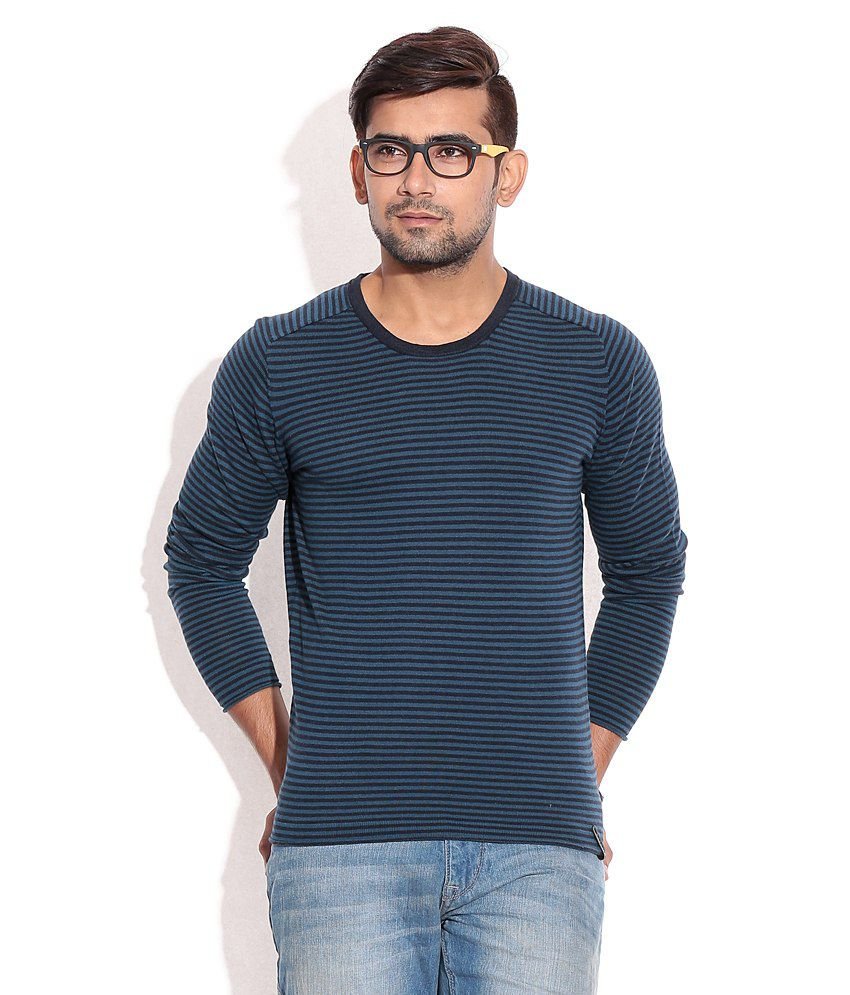 Jack & Jones Navy Cotton  T-Shirt