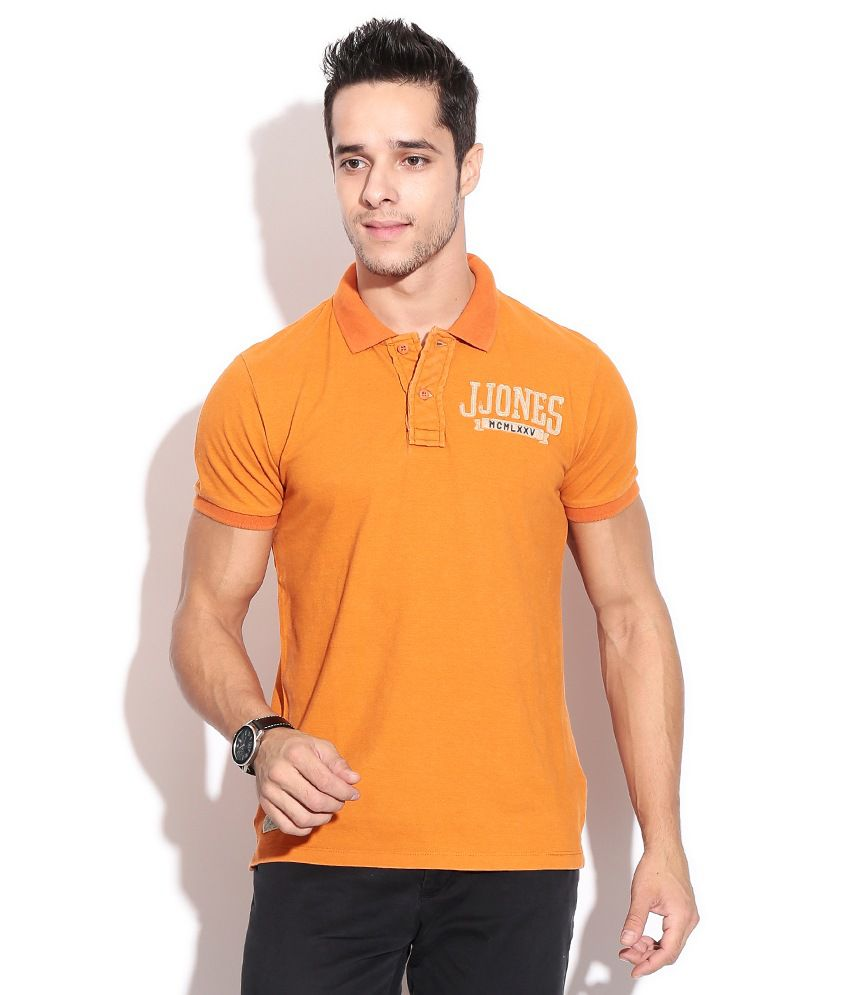 autentica di fabbrica originale più votato tecnologie sofisticate Jack & Jones Orange Polo T-Shirt - Buy Jack & Jones Orange Polo T ...