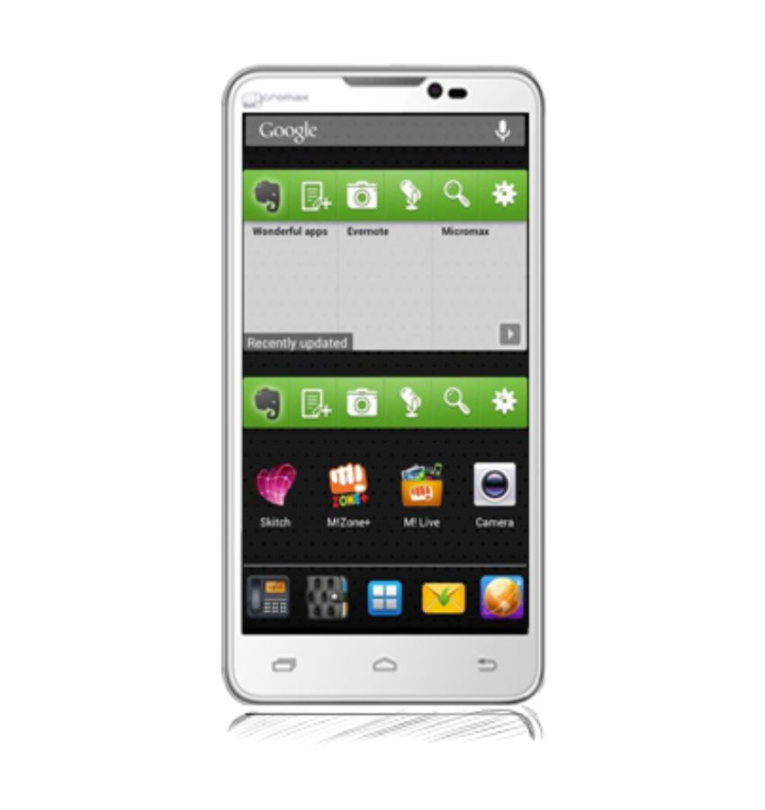 Micromax ( 4GB and Below , 512 MB ) White