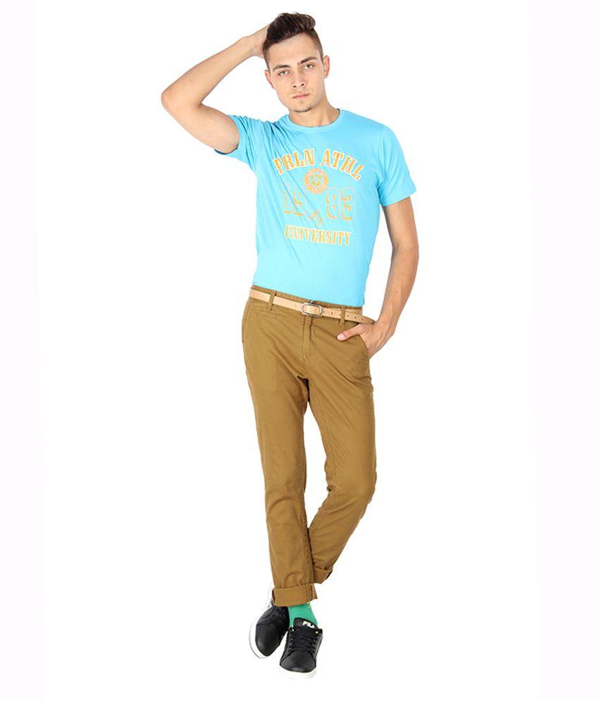 Proline Colours Blue Cotton T-shirt