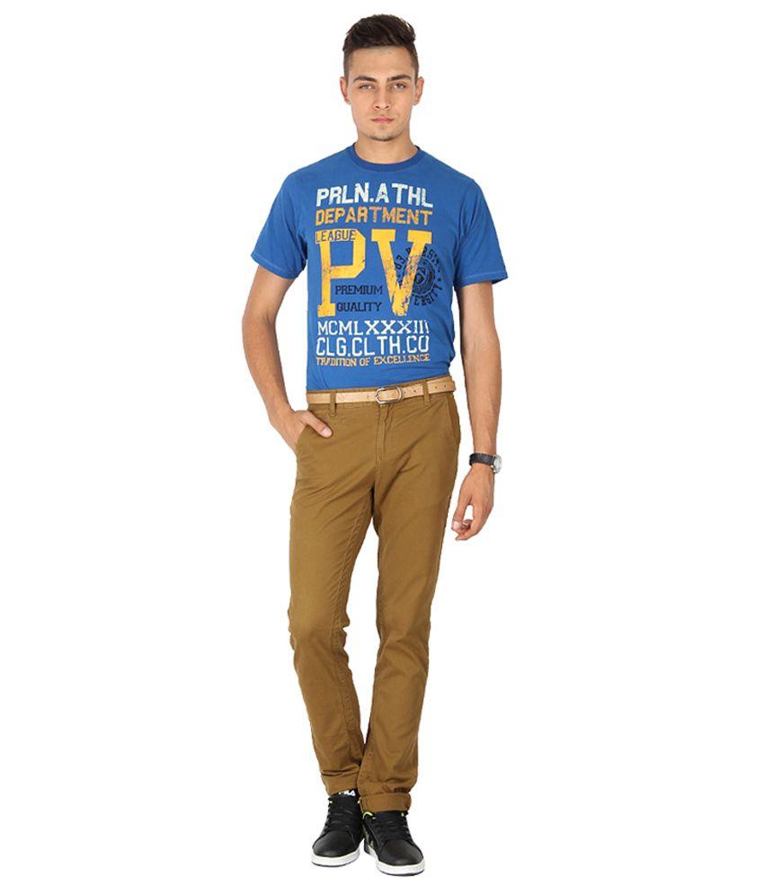Proline Varsity Blue Cotton T-shirt