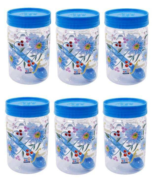 8e0cb604210 Ski Homeware Virgin Plastic Easy Pet Jars 2000 Ml (buy One   Get One)  Buy  Online at Best Price in India - Snapdeal