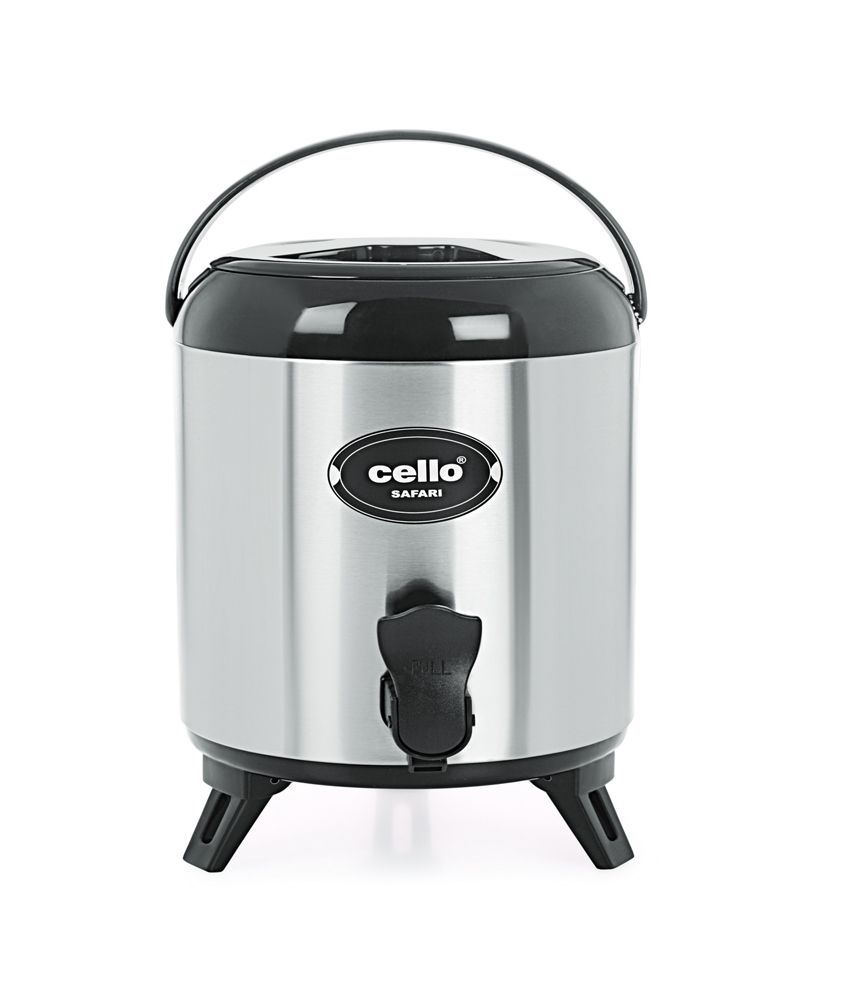 Cello Safari Stainless Steel Jug (14 LTR) Black