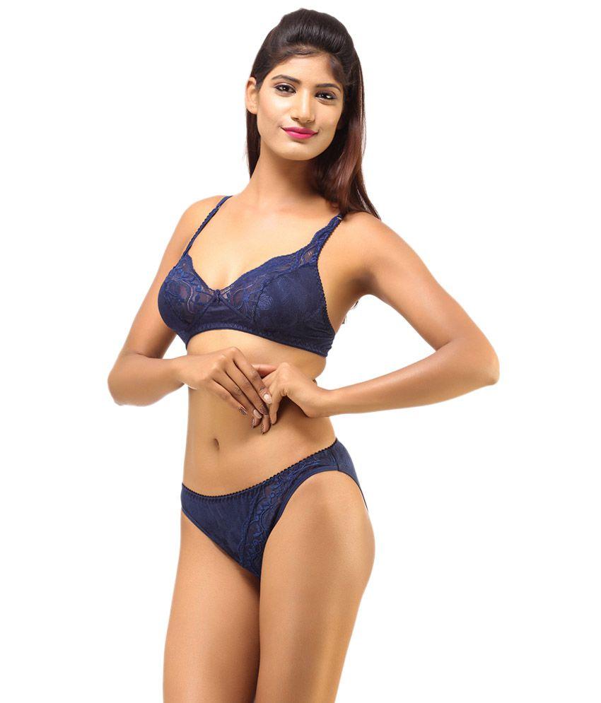 b5e94e7383c Buy DesiHarem Multi Color Cotton Bra   Panty Sets Pack of 2 Online ...