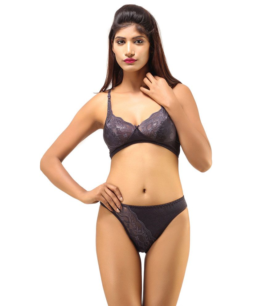 cb3009d7c Buy DesiHarem Multi Color Cotton Bra   Panty Sets Pack of 2 Online at Best  Prices in India - Snapdeal