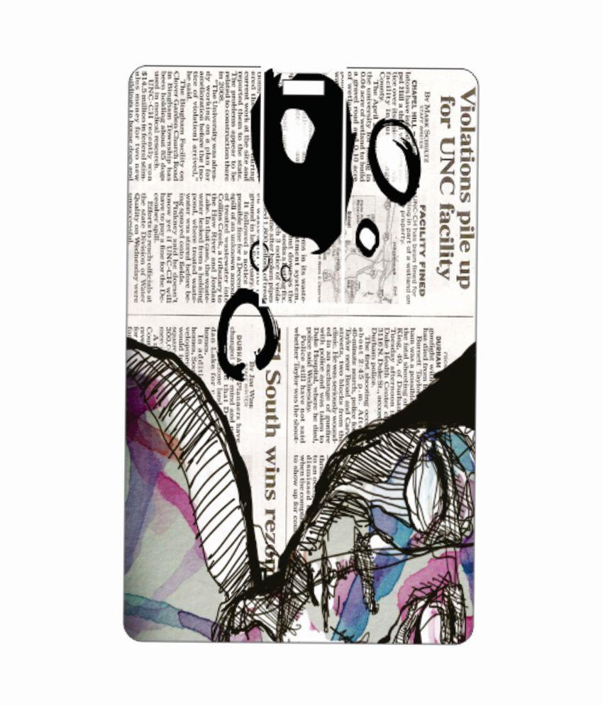 Printland newspaper 8GB 8 GB Pen DrivesMulticolor