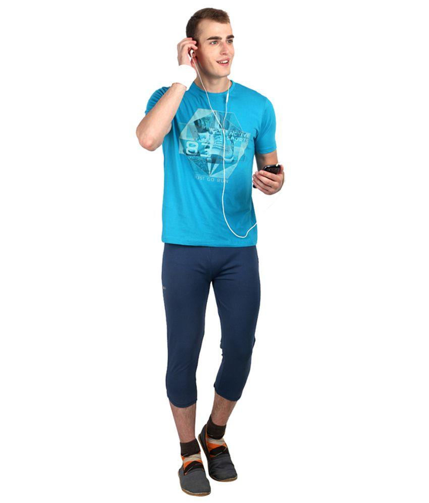 Proline Active Blue Cotton T-shirt