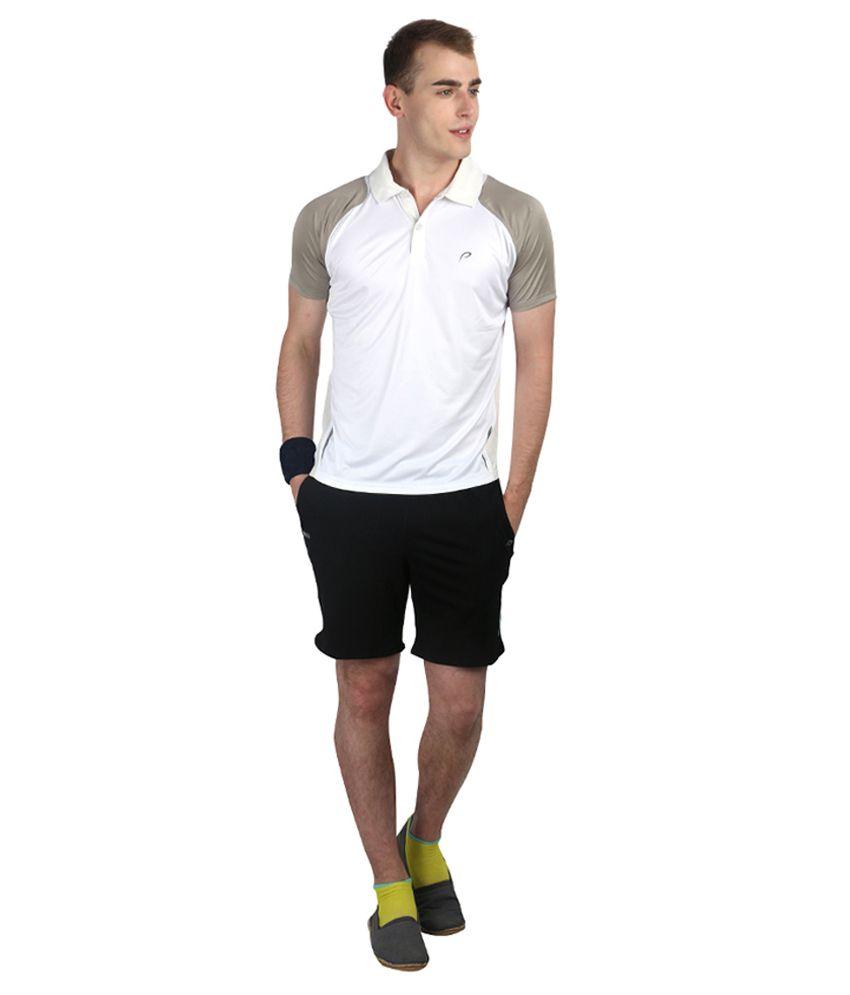 Proline Active White Polo T-shirt