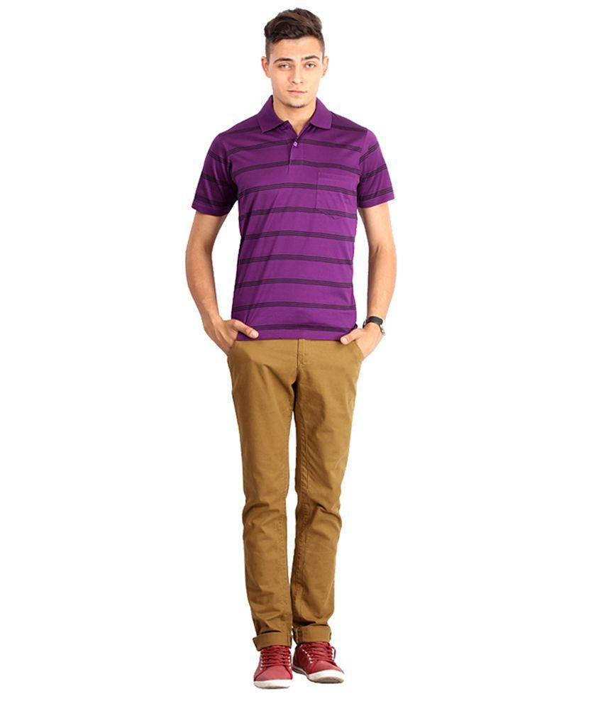 Proline Colours Purple Polo T-shirt