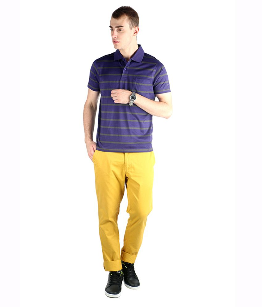 Proline Colours Purple Polo T-shirt