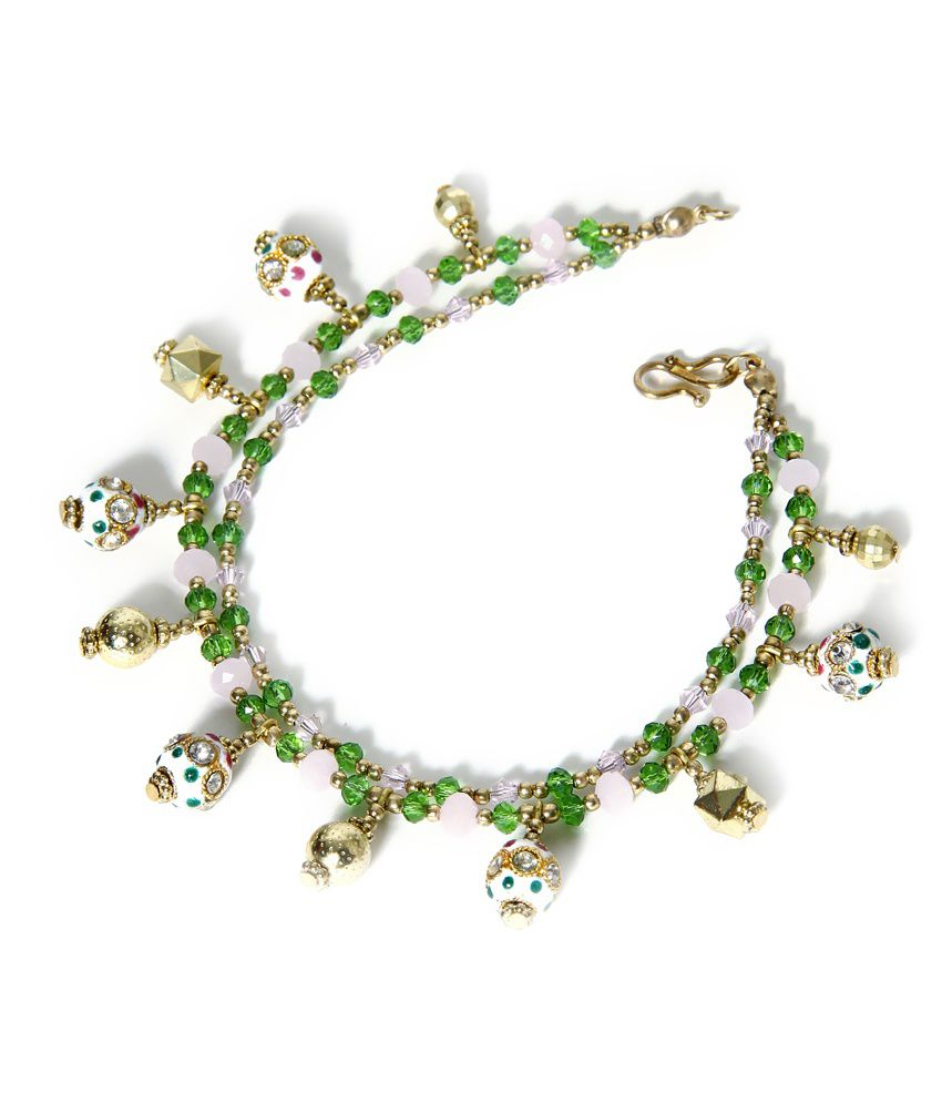 Zurii Royal Green Anklet