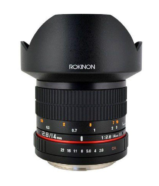 Rokinon Fe14m-p 14mm F2.8 Ultra Wide Lens For Pentax (black)