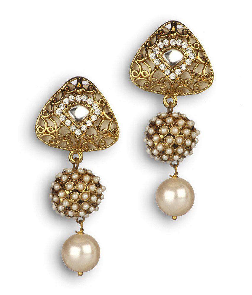 Shubham Jewellers Multi Colored Pearl Earrings