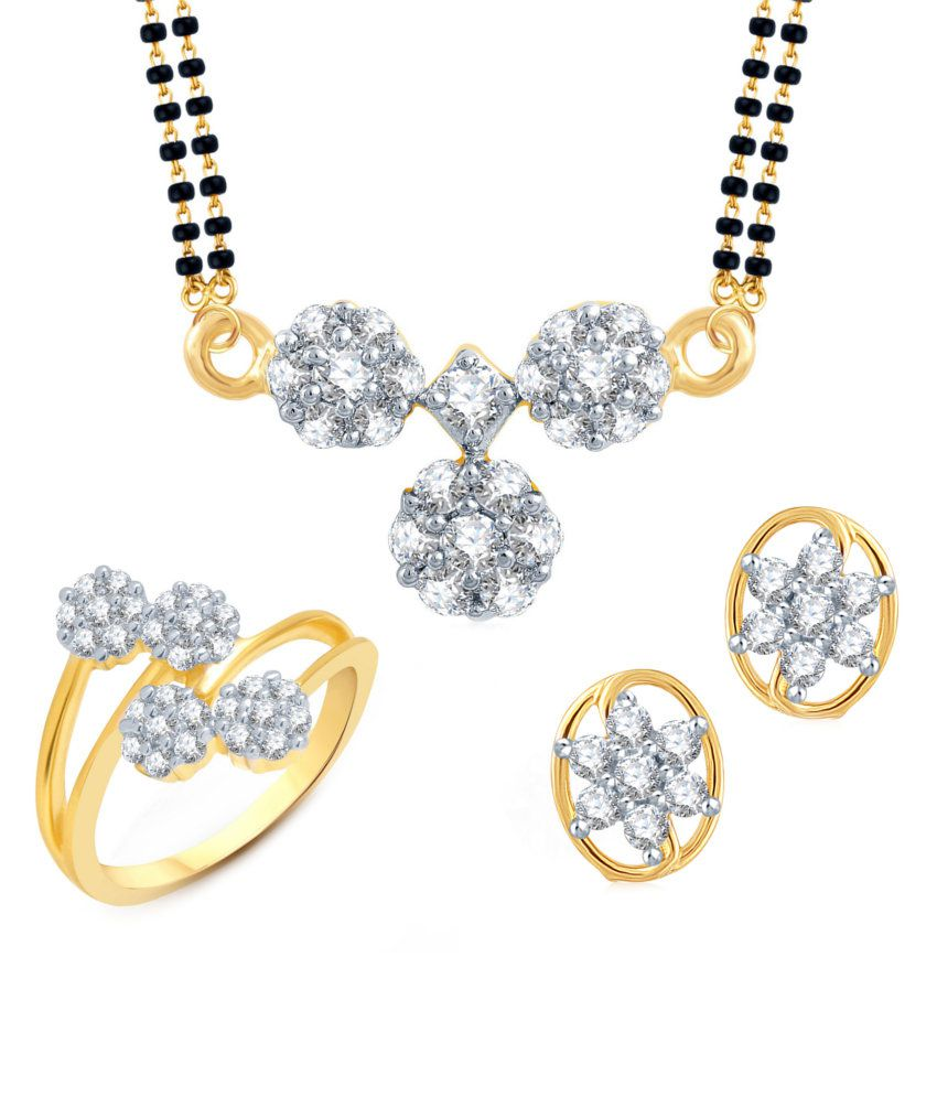 Meenaz Astounding Traditional Mangalsutra Combo With Ring And Earrings
