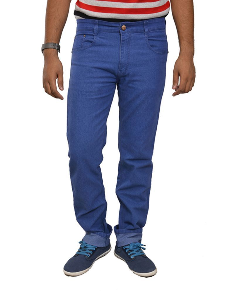 Studio Nexx Blue Cotton Regular Fit Men's Jeans