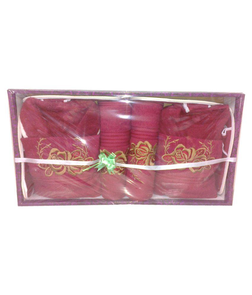 sweet dreams mehroon cotton bath robe set of 8 buy sweet dreams
