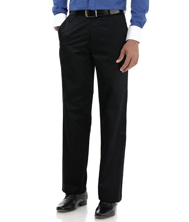 Basics Black Regular Casuals