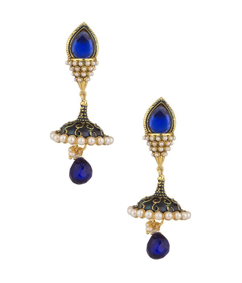 Voylla Festive Jhumki Earrings Brilliantly Decorated With ...