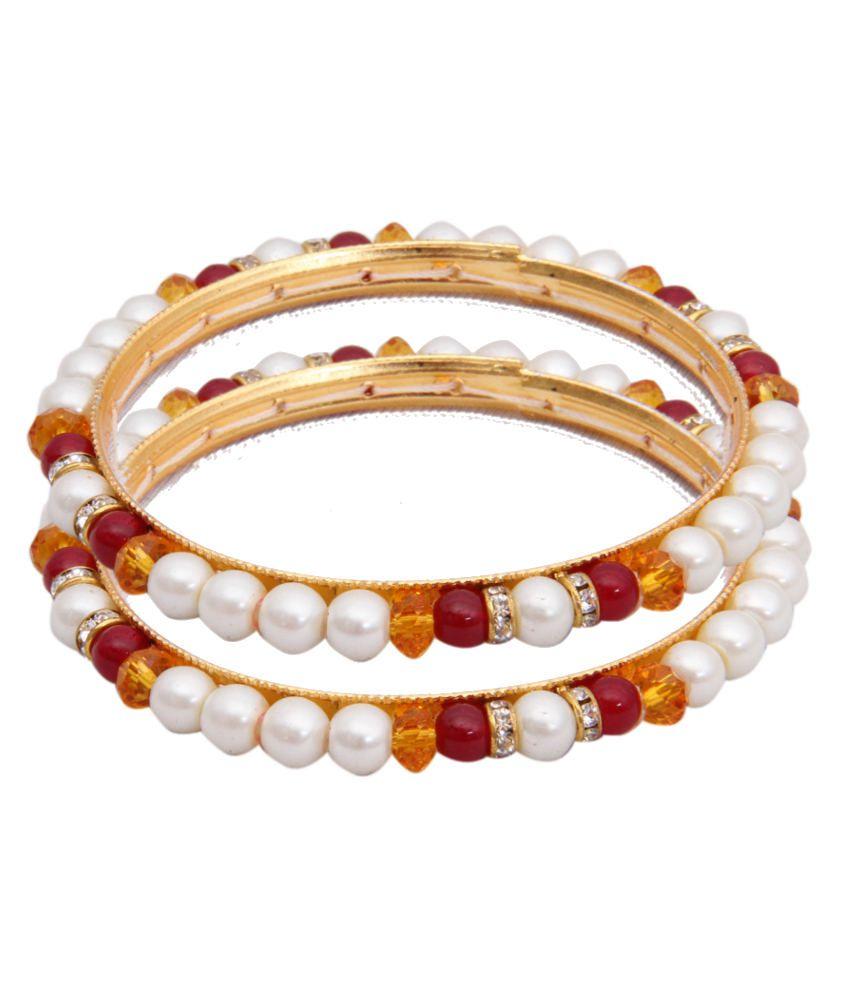 Classique Designer Jewellery Mesmerising Circle Of Life Pearl Bangles