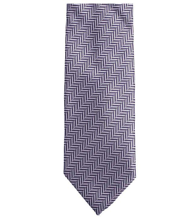 Lino Perros Purple Micro Fiber Formal Broad Ties