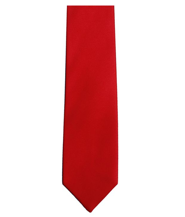 Lino Perros Red Micro Fiber Formal Broad Ties