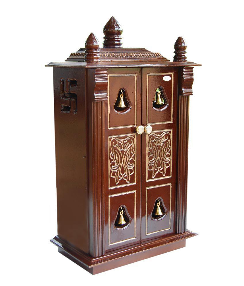 maxwood doors and windows brown pooja cabinet with door buy maxwood rh snapdeal com