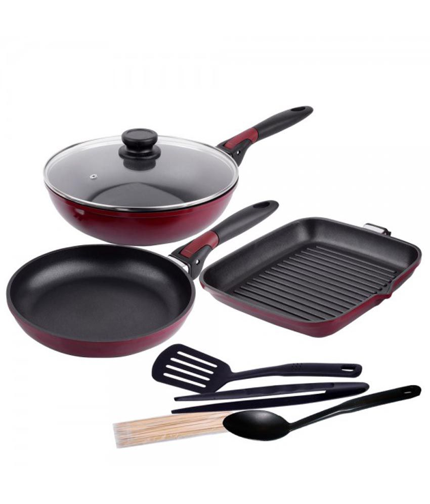 wonderchef click space saver cooking set with freebie available at snapdeal for. Black Bedroom Furniture Sets. Home Design Ideas