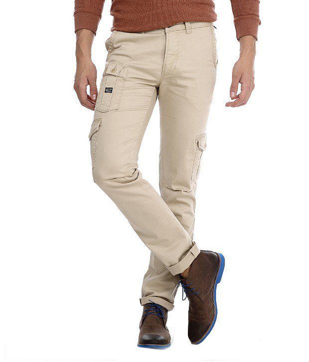 Basics Beige Slim Casuals