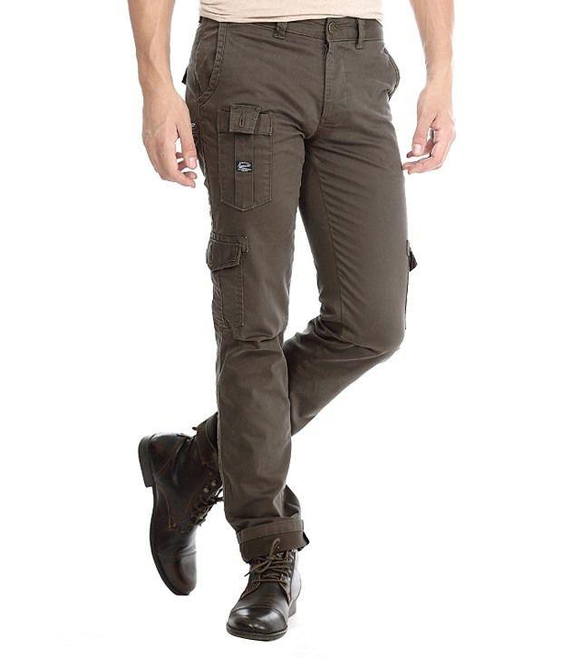 Basics Green Slim Casuals