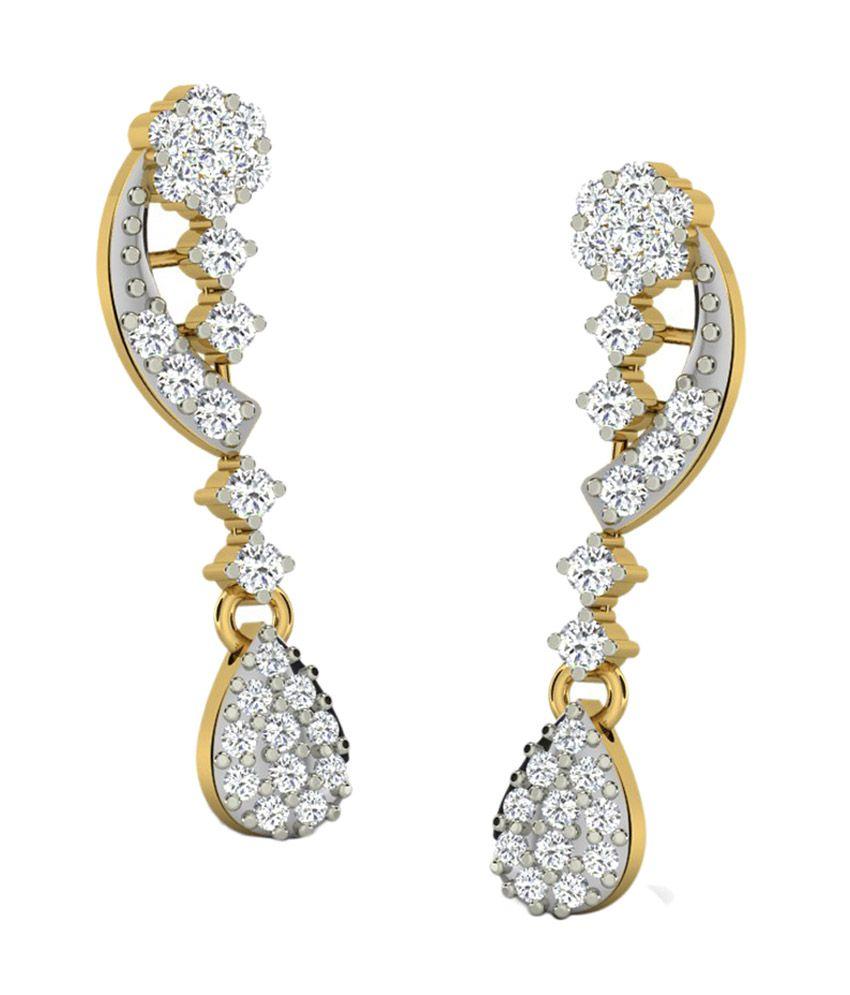 Sparkles 18kt Dashing Drop Earrings