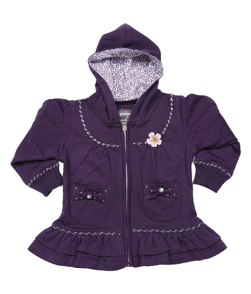 Sportking Plum Color Sweatshirt For Girls