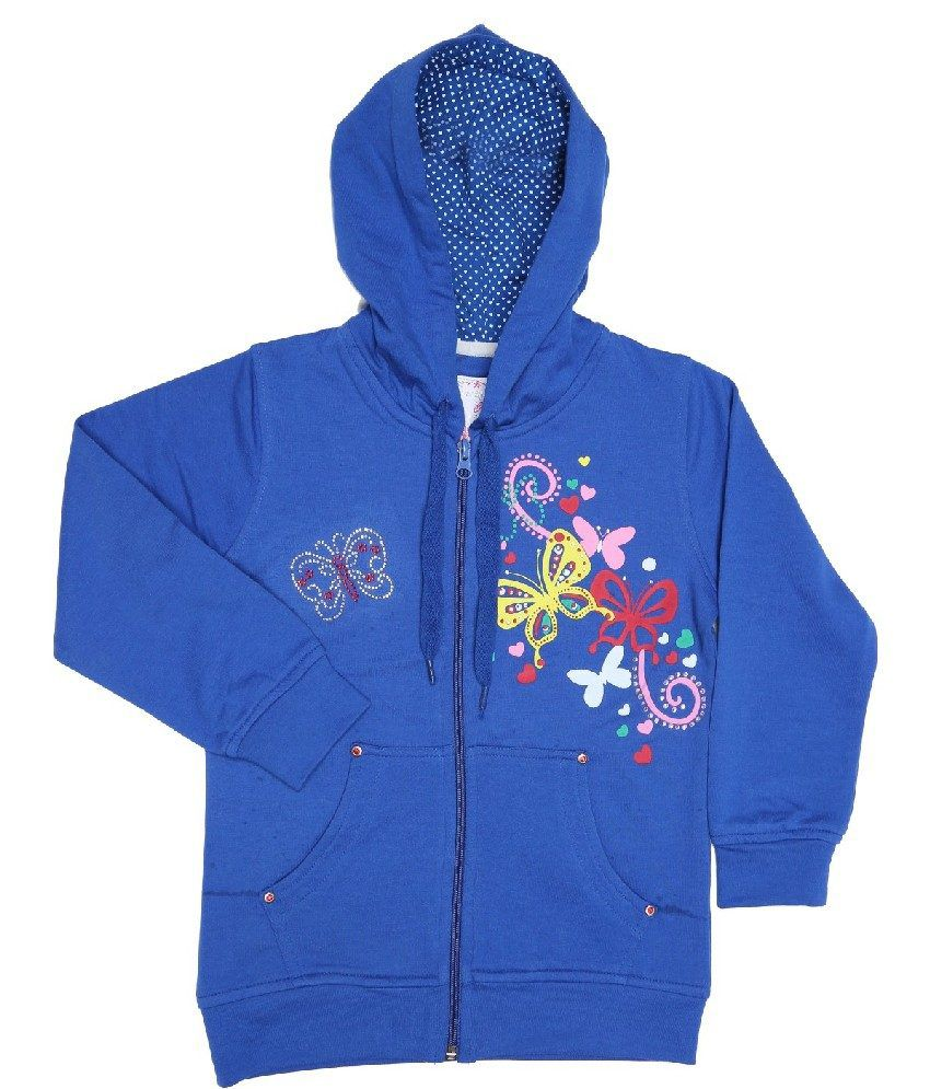 Sportking Royal Blue Sweatshirt For Girls