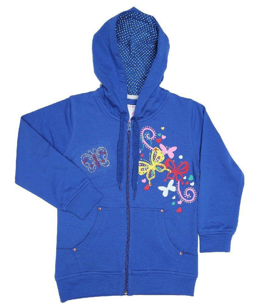 Sportking Royal Blue Sweatshirt For Girls