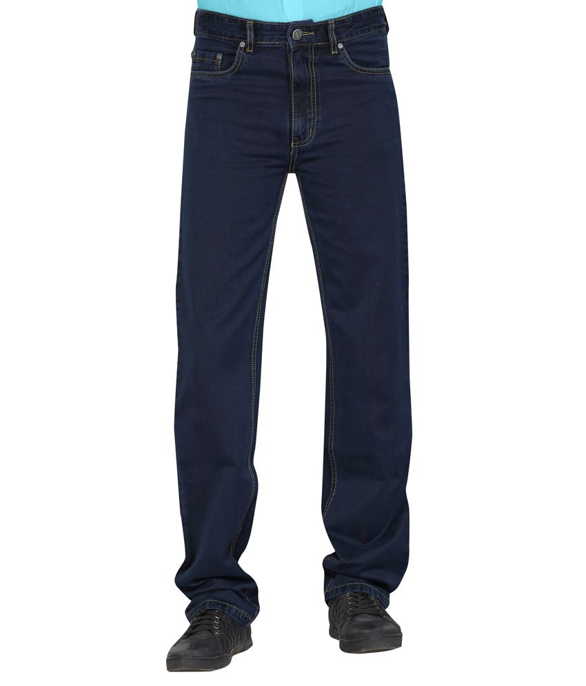 Flags Carbon Blue coloured smart Regular fit Jeans,Chino Denim