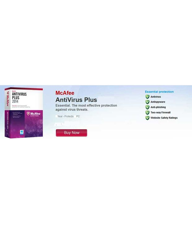 McAfee Antivirus Latest Version ( 3 PC / 1 Year ) CD