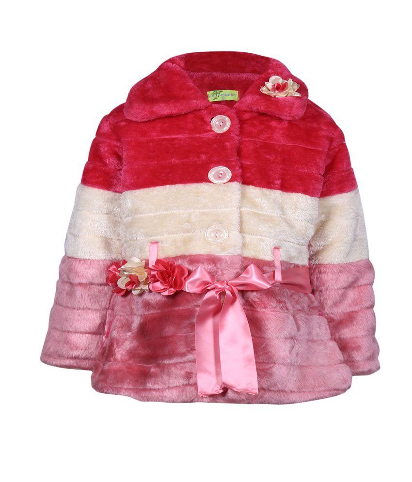 Cutecumber Full Sleeve Girls Coat Without Hood-
