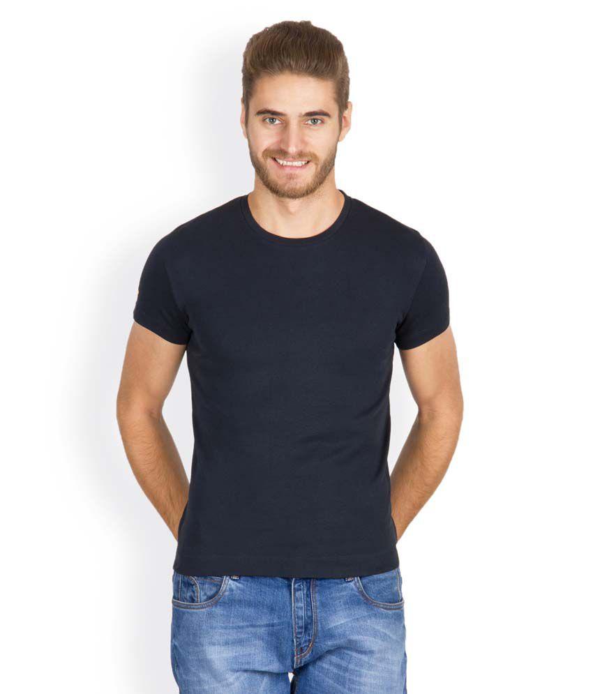 Hues 8003 L Stylish Gray Men T Shirt