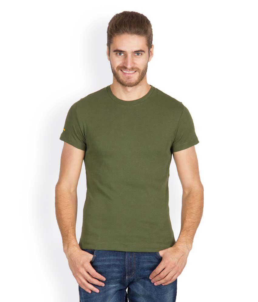 Hues 8003 T Stylish Green Men T Shirt