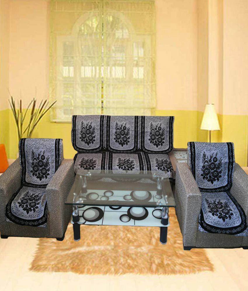 Shc Jute Floke Sofa Cover Set With 5 Cushion Covers Buy