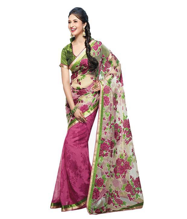 d102855f1c Styloshopper Ishita Pink Color Saree - Buy Styloshopper Ishita Pink Color  Saree Online at Low Price - Snapdeal.com