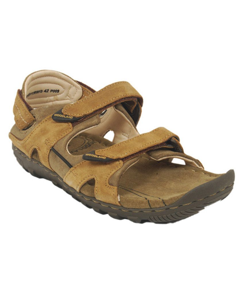 Woodland Velcro Khaki Nubuck Mens Sandals Art Bgd491108cam