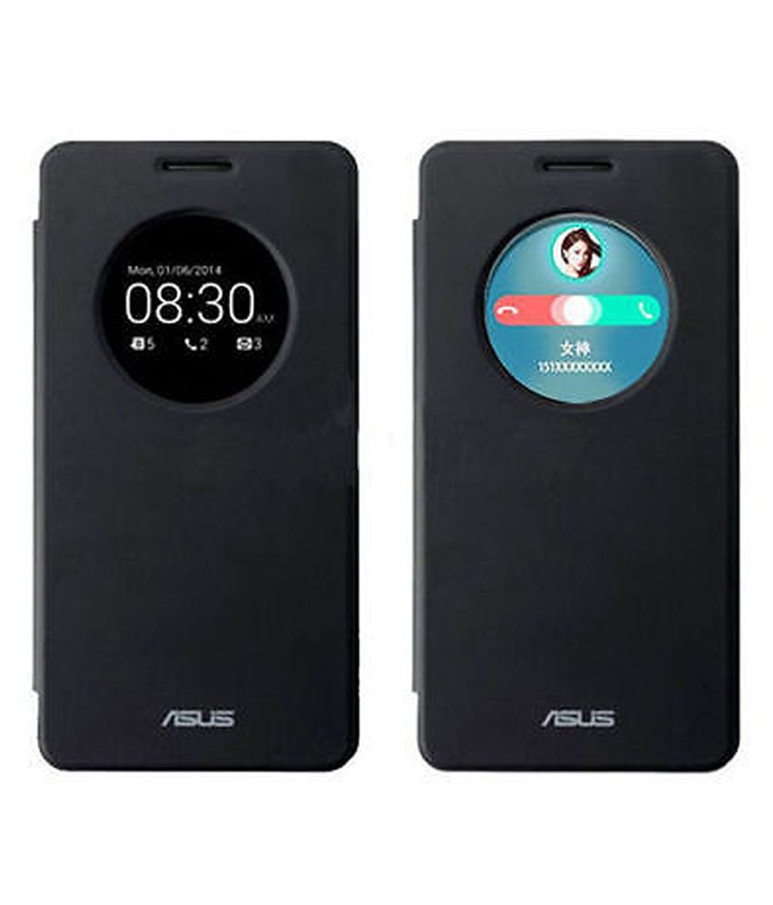 new concept 2e53e 62451 Covercart High Qualityleather Flip Cover For Asus Zenfone 5 - Black