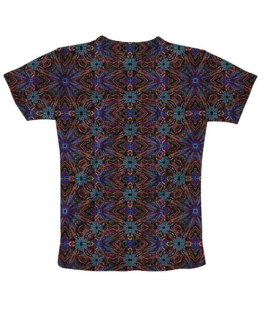 Freecultr Blue Cotton Blend T Shirt Buy Freecultr Blue