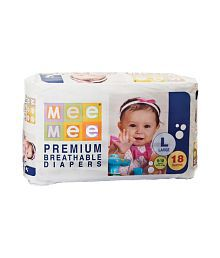 Mee Mee Baby Premium Large Size Diapers_18 Pieces