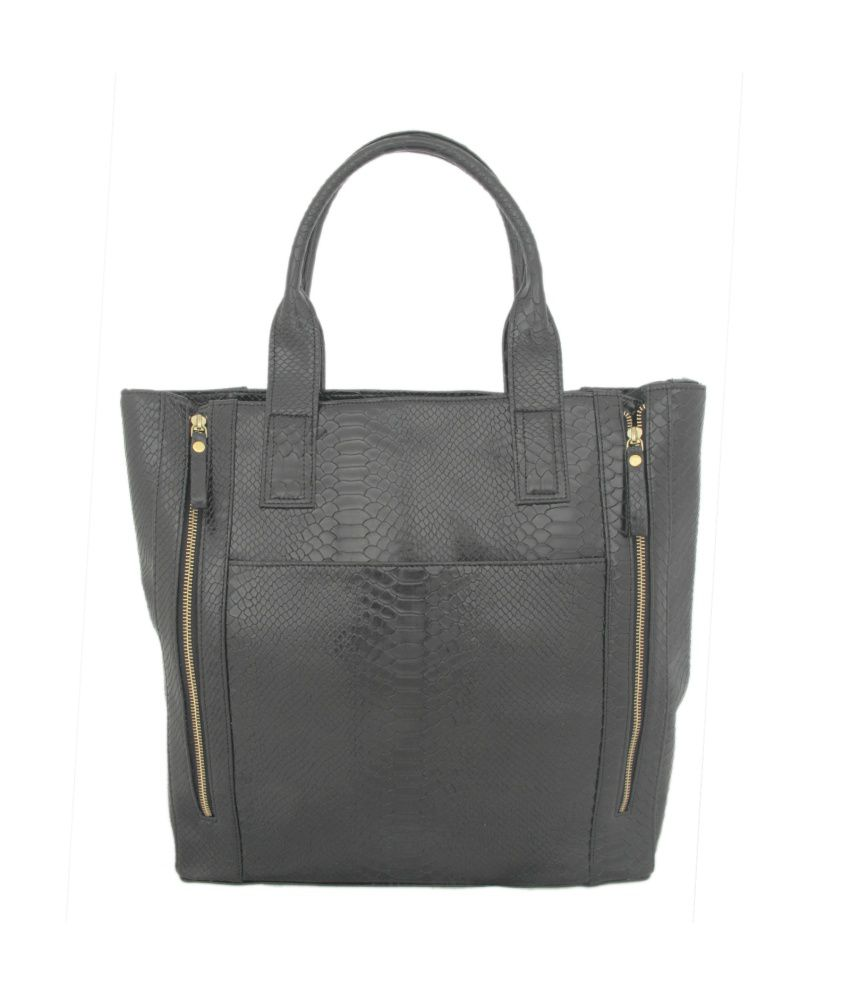 Loto Gris Black Tote Bag