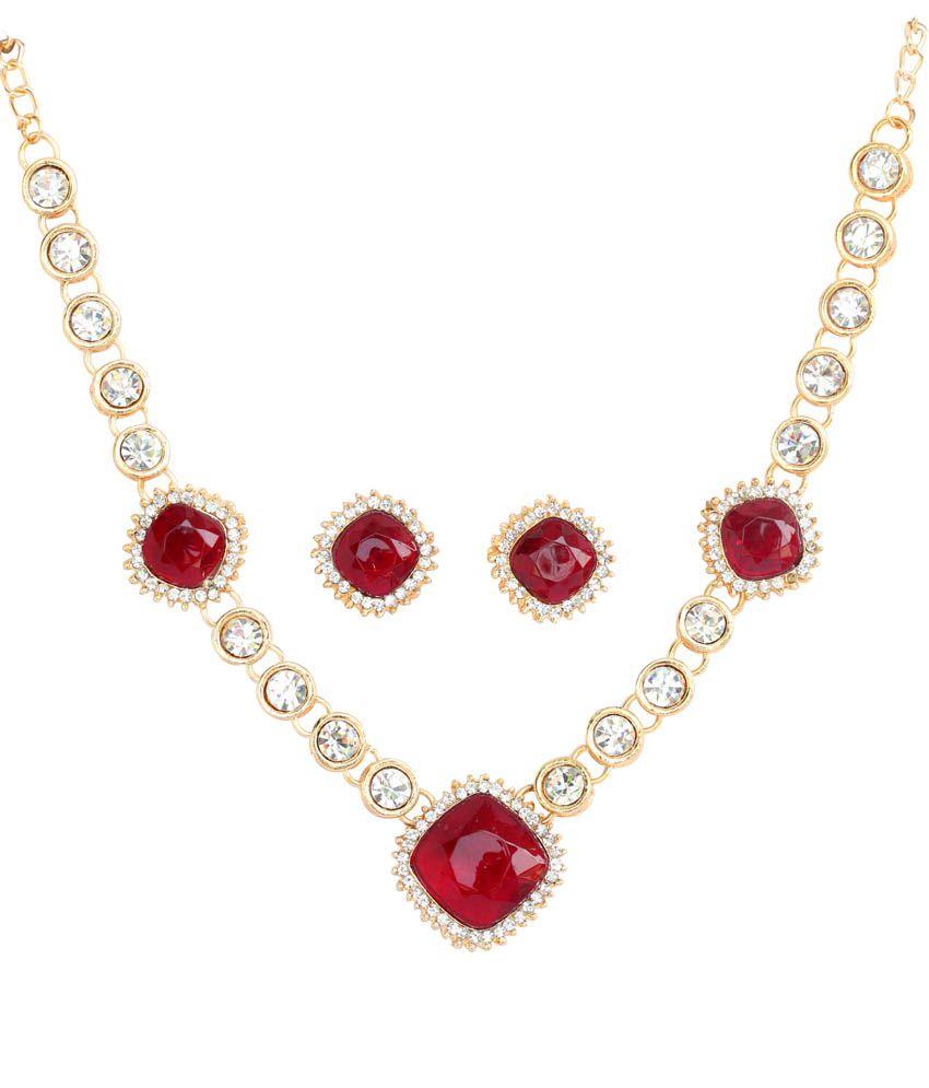 Touchstone Austrian Diamonds & Red Glass Stone : Fgnsa243-0...